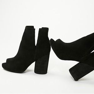 Jeffrey Campbell open toes boot